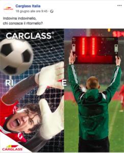 Carglass crea un rebus che rimanda al suo jingle per i mondiali 2018