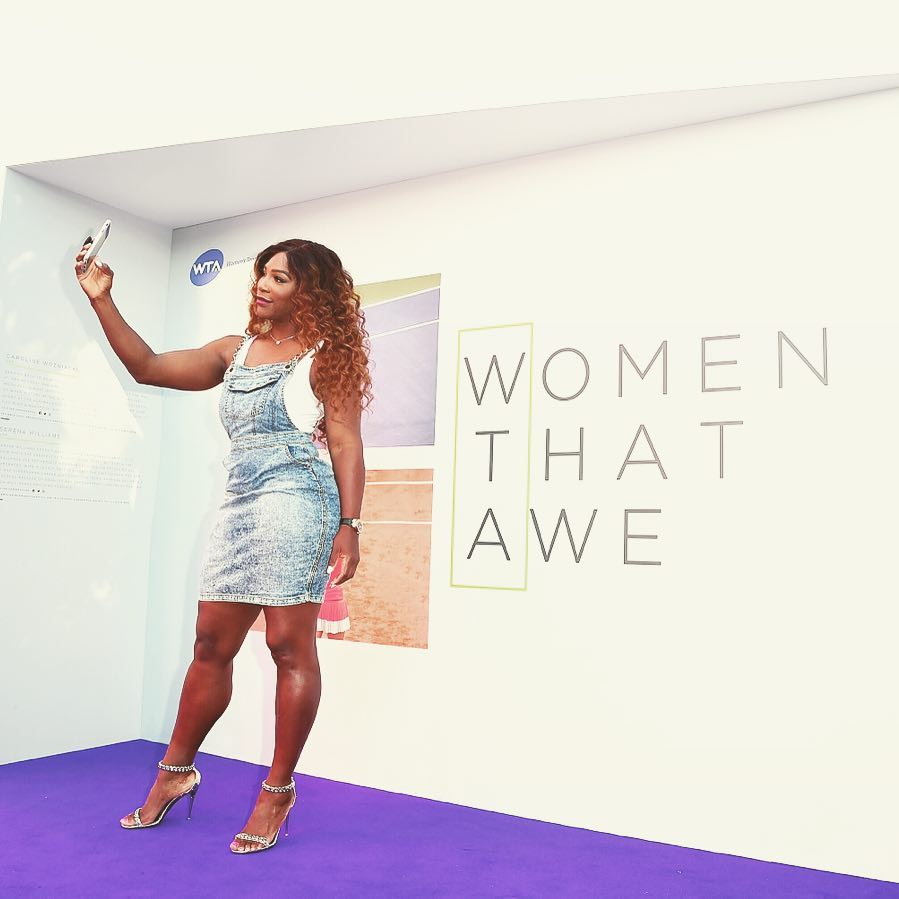 Serena Williams ad evento WTA