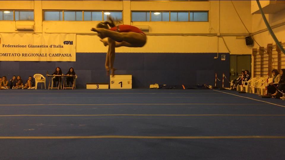 ginnastica artistica, Anastasia Sarracco durante un esibizione